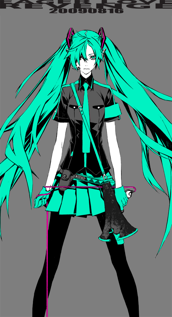 """(supercell) Hatsune Miku has surface on the web, """"Eager Love Revenge""""…"""